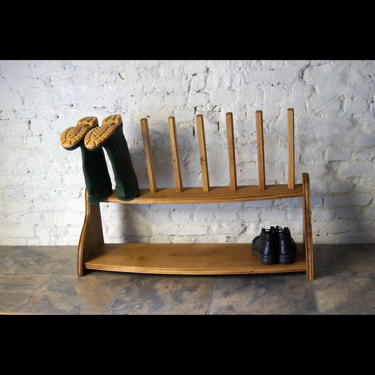 Wellington boots rack
